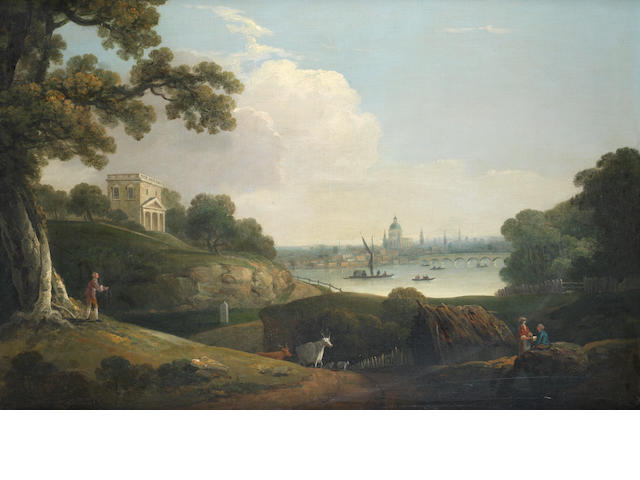 Attributed to Nicholas Thomas Dall (active England 1748-1776) A capriccio view of London with Saint