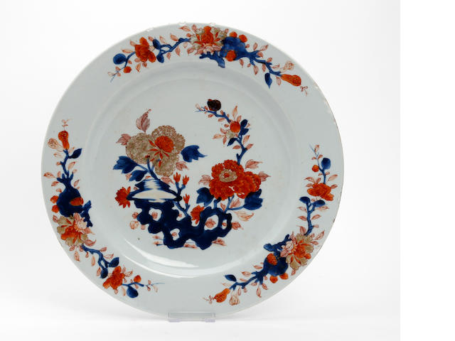 A Chinese Imari export porcelain dish Mid 18th Century