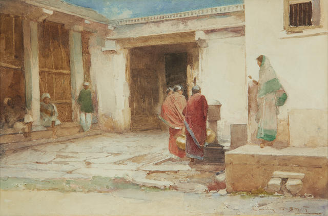 Carlton Alfred Smith, RI, RBA, ROI (British, 1853-1946) At the well, India