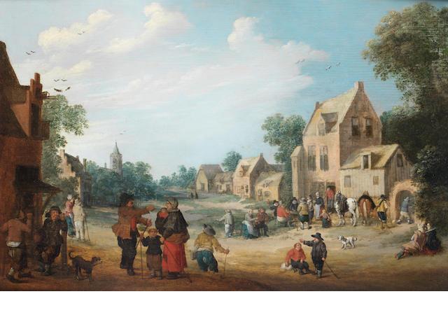 Joost Cornelisz. Droochsloot (Utrecht 1586-1666) A village scene