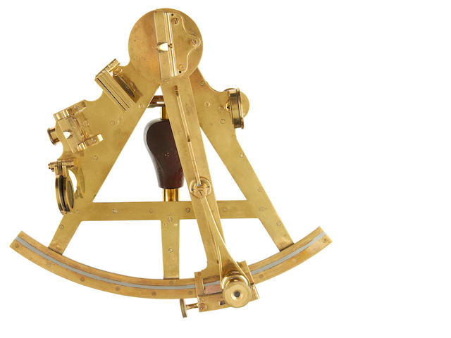 A mid 19th century 8in.(20cm)radius sextant, by William Cary, London.