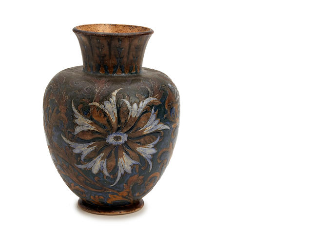 A Martin Brothers stoneware vase Dated 1891