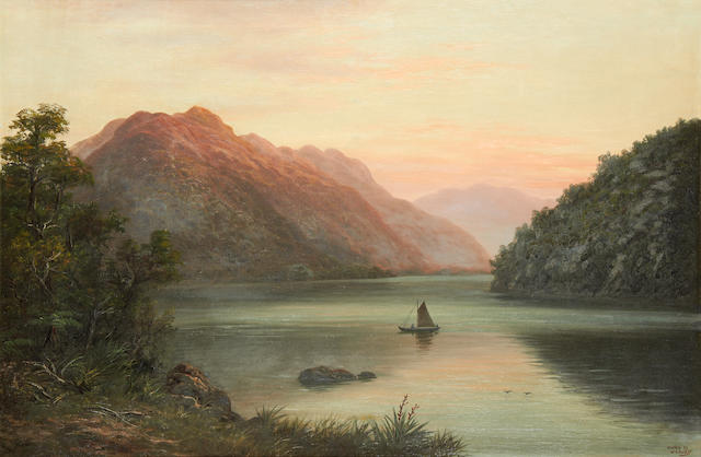William George Baker (New Zealand, 1864-1929) Dusky Sound, New Zealand