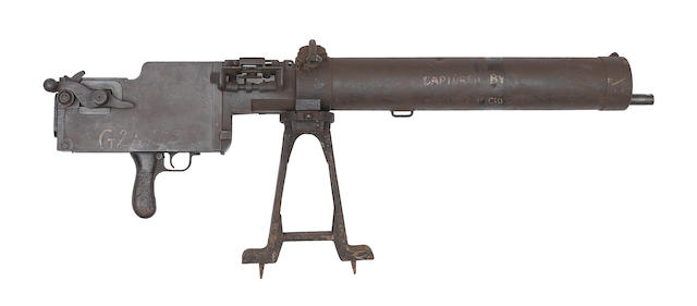 The major parts of a deactivated 7.92mm 'MG08/15' machine-gun by Spandau, no. 4610 Together with its deactivation certificate, no. 107536