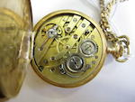 Swiss. A 14ct gold keyless wind full hunter pocket watch Case No.84170, Circa 1900