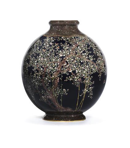 A cloisonné enamel globular vase Attributed to the Hayashi Kodenji workshop, Meiji Period