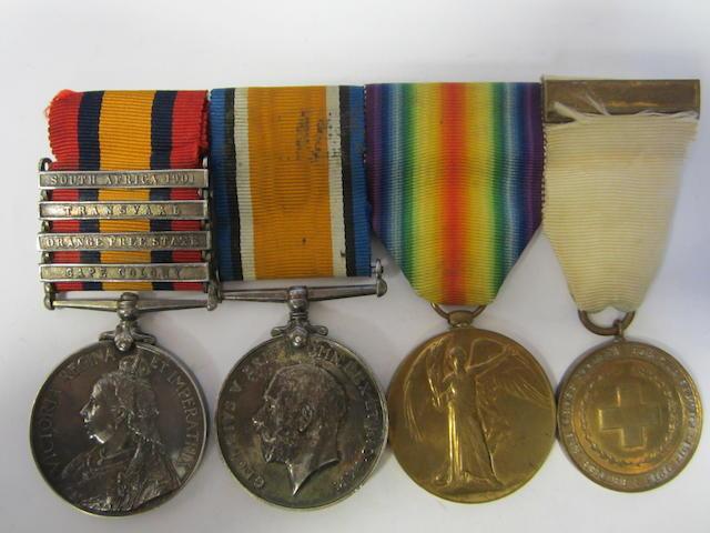 Three to Lieutenant A.H.B.Kirkman, Royal Army Medical Corps,