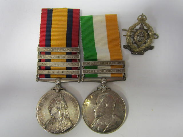 Pair to Corporal A.J.Williams, Royal Army Medical Corps,