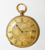 A late 19th century Continental 18ct gold, diamond and enamel pocket watch