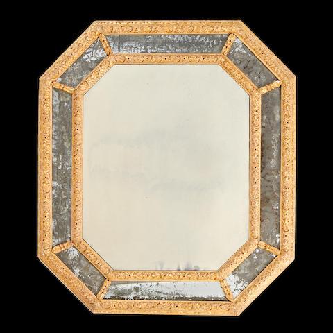 A George II style giltwood marginal mirror