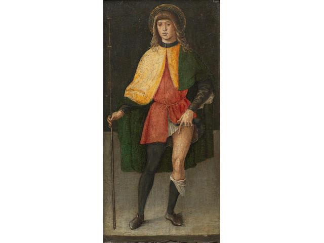 Lazzaro di Jacopo Bastiani (Venice 1425-1512) Saint Liberale; and Saint Roch  (2)