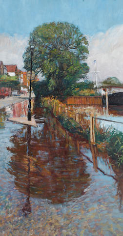 William Bowyer RA (British, born 1926) Flooding Tide, Chiswick Mall
