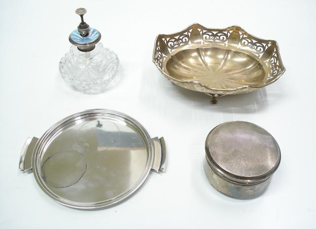 Georg Jensen; a small drinks tray