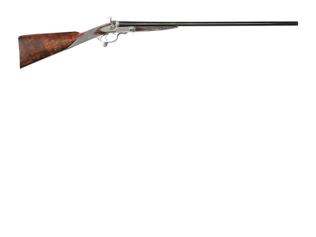 A 12-bore sidelock hammer gun by C. Lancaster, no. 2743/16889