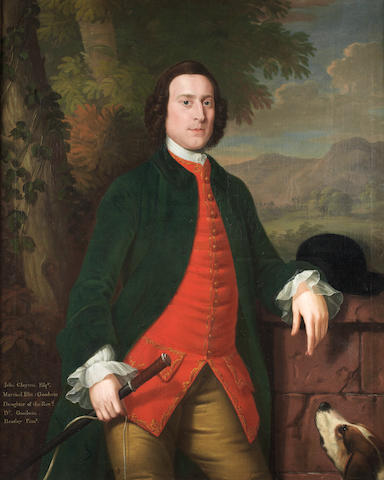 ** Heatley Portrait of John Clayton, three-quarter-length,