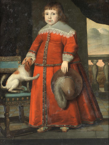 Circle of Wybrand Simonsz. de Geest (Leeuwarden 1592-1659) Portrait of a boy, full-length,