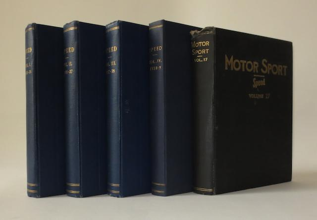 Speed Magazine; bound Volumes I to IV (1935-1939),