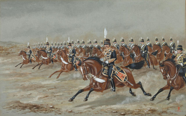 English School, Late 19th Century The 14th King's Hussars