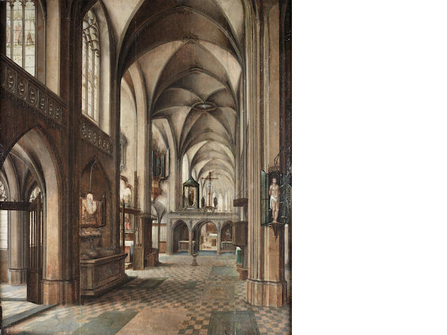 Circle of Peeter Neeffs the Elder (Flemish, born circa 1578-died circa 1661) A church interior