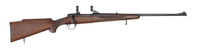 A .30-06 sporting rifle by FFV Husqvarna, no. 506628 Shot & Regulated by Holland & Holland, no. 056