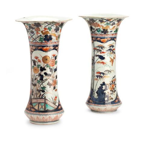 A pair of large Imari vases Edo