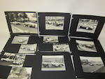 Assorted motor racing photographs,