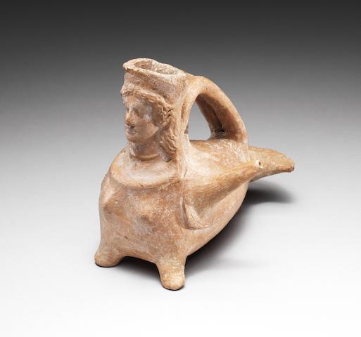 A Boeotian terracotta askos