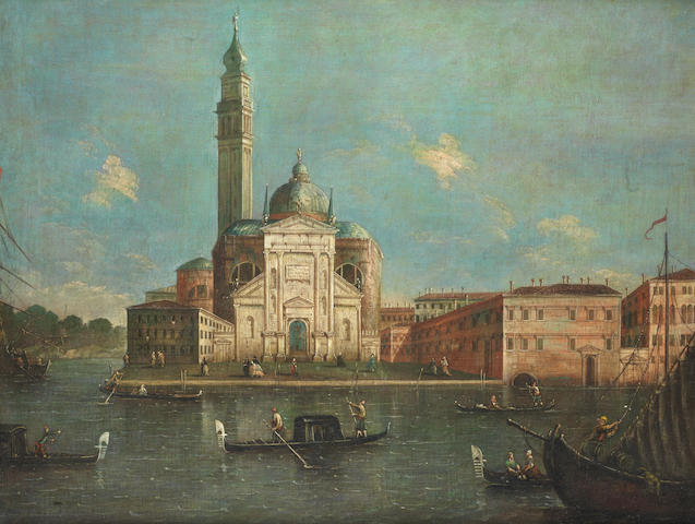Manner of Michele Marieschi, 20th Century A capriccio view with San Giorgio Maggiore, Venice