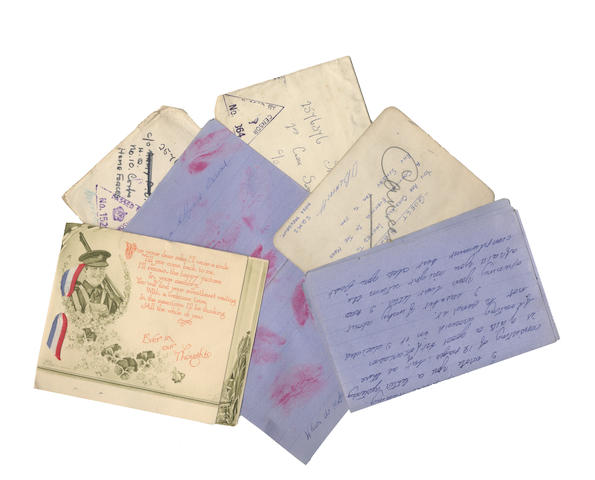 LOVE IN THE BLITZ - quantity of second world war letters (c.45)