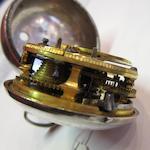 Mercier, London. A silver key wind repoussé pair case pocket watchCase and Movement No.1356, Circa 1750