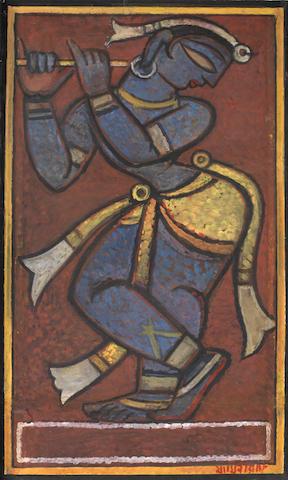 Jamini Roy (India, 1887-1972) Untitled (Krishna),