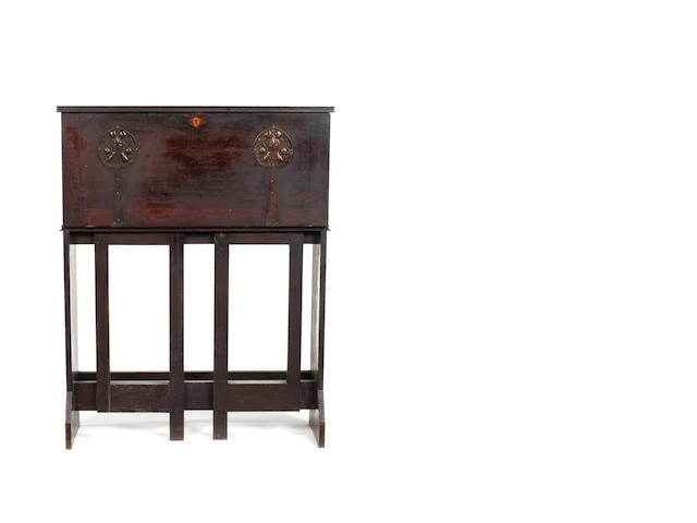 Mackay Hugh Baillie Scott, attributed A Gate-legged Writing Cabinet, circa 1900