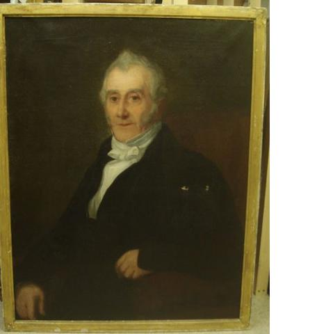 English School, 19th Century Portrait of the Revd. Joseph Guerin, 1767-1863 90 x 70cm.