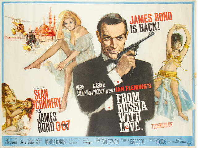From With Russia With Love, Eon/ United Artists, 1963,
