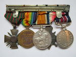 A Great War M.M. group of five to Sergeant E.Sweeting, Royal Army Medical Corps,