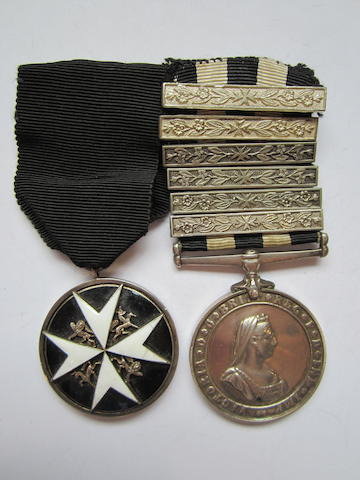 An Order of St.John pair to Corporal E.Whale, St.John Ambulance Brigade,