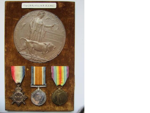 Three to Captain J.B.Rawlins, Royal Army Medical Corps,