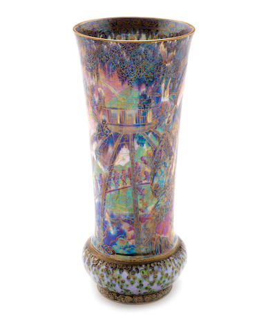 Daisy Makeig-Jones for Wedgewood  'Imps on a Bridge' an Impressive Fairyland Lustre Vase, circa 1920