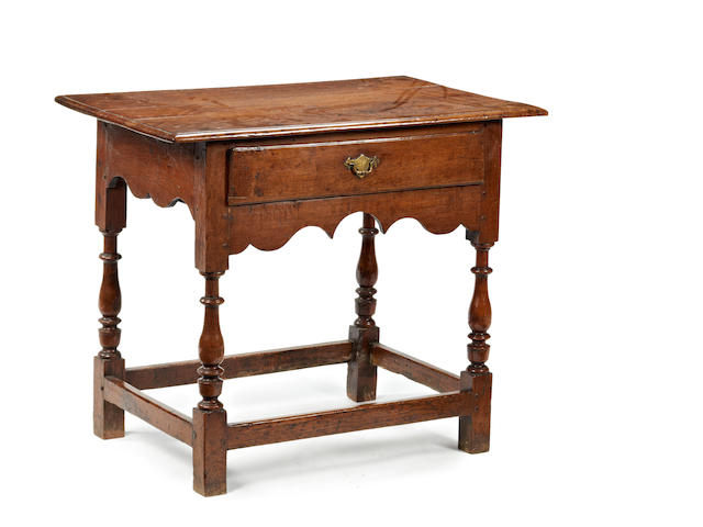 A George II oak side table Circa 1740