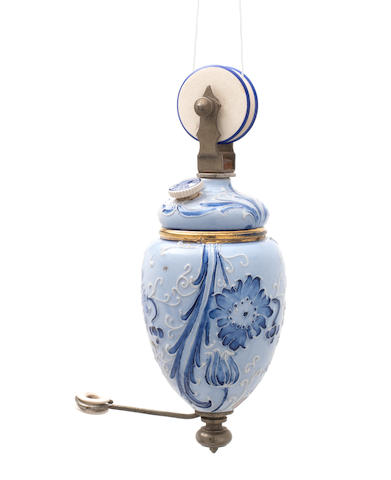 William Moorcroft, attributed  A Highly Unusual Florian Light Counter-weight, circa 1900