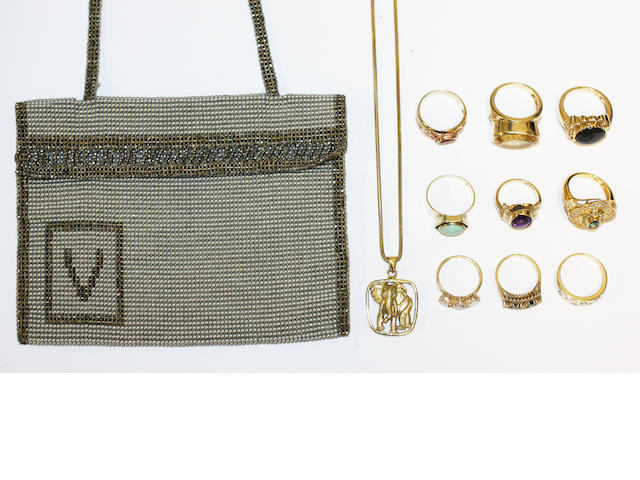 A collection of vari gem-set dress rings (11)