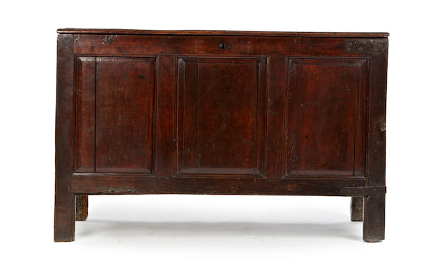 An oak coffer, circa 1700 English