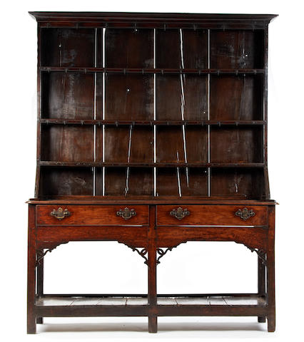 A George III oak high dresser, South Wales, circa 1780