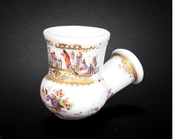 A Meissen pipe bowl, circa 1735