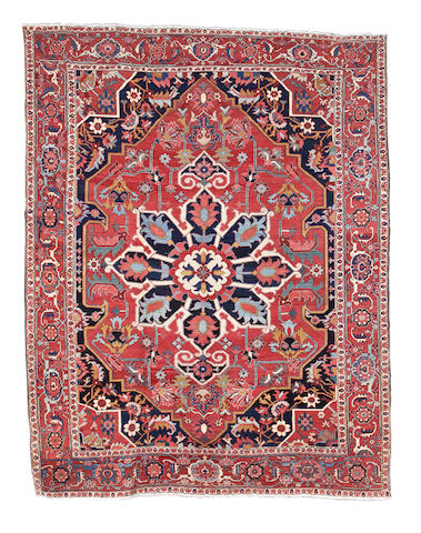 A Heriz carpet, North West Persia, 374cm x 293cm