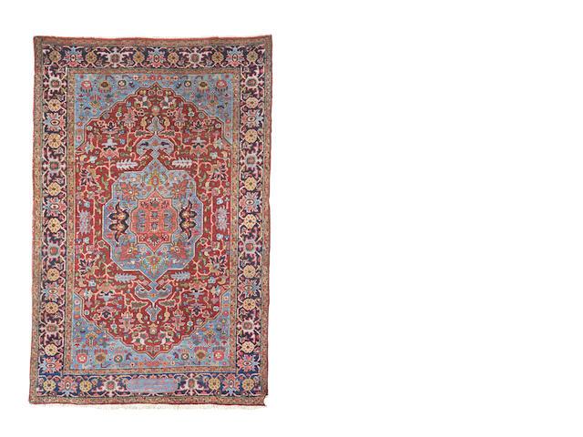A Heriz rug, North West Persia, 225cm x 150cm
