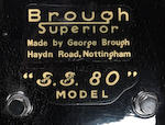 1931 Brough Superior 980cc SS80 Frame no. 1075 Engine no. 50101/S