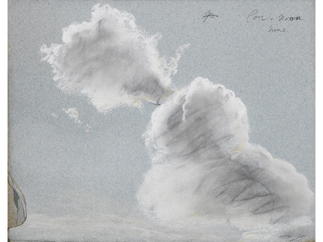 Thomas Kerrich (Norfolk 1748-1828) A disbound album of landscape, cloud and moonlight studies, all u