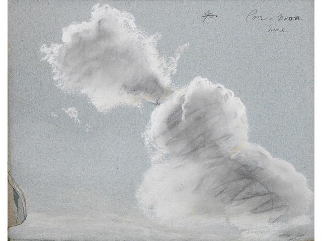 Thomas Kerrich (Norfolk 1748-1828) A disbound album of landscape, cloud and moonlight studies, all u