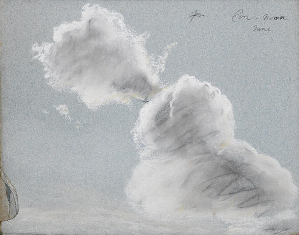 Thomas Kerrich (Norfolk 1748-1828) A disbound album of landscape, cloud and moonlight studies,  all unframed, (quantity)